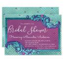 Teal Blue and Purple Mermaid Scales Bridal Shower