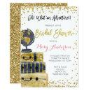 Travel Bridal Shower  Gold Glitter