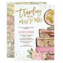 Travel Map Bridal Shower / Pink Gold Floral
