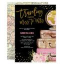 Travel Suitcase Bridal Shower Around the World