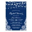 Trendy String Lights Lace Navy Blue