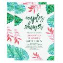 Trendy Tropical Watercolor Couples Shower