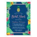 Tropical  | Navy Blue Gold Pineapple
