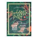 Tropical Floral Chic Gold Frame Bachelorette Party