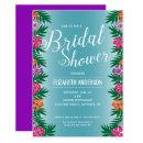 Tropical Flowers and Palm Branches Bridal Shower