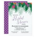Tropical Flowers & Palm Branch Bridal Shower