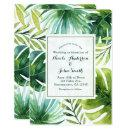 Tropical Leaves Hawaiian Summer Wedding