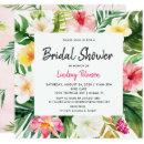Tropical Leaves Square Bridal Shower
