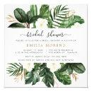 Tropical Modern Palm Cactus White Floral Bridal