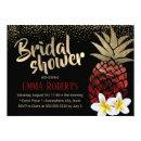 Tropical Red & Gold Pineapple Beach Bridal Shower