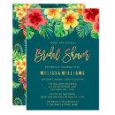 Tropical Watercolor Flowers Bridal Shower