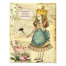 Vintage Alice in Wonderland Princess Bridal Shower Invitations