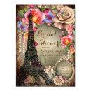 Vintage Eiffel Tower Paris Bridal Shower