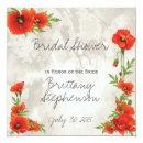 VINTAGE RED POPPIES BRIDAL SHOWER