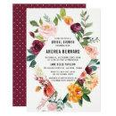 Watercolor Autumn Blooms Floral Bridal Brunch