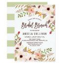 Watercolor Bohemian Flowers Bridal Brunch