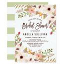Watercolor Bohemian Flowers Bridal Shower