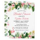 Watercolor Flamingo Tropical Floral Bridal Shower