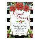Watercolor Floral Christmas Bridal Shower Invitations