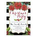 Watercolor Floral Christmas Party Invitations