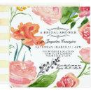 Watercolor Modern Rose Floral Flower Bridal Shower