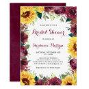 Watercolor Sunflowers Floral Border Bridal Shower