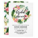 Watercolor Tropical Flowers Wreath Bridal Shower