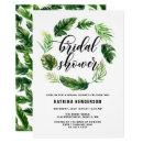 Watercolor Tropical Leaves Wreath Bridal Shower
