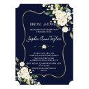 Watercolor White White Floral Gold Bridal Shower