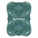 Western Country fashion Teal Turquoise Leather