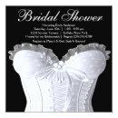 White Corset Black and White Bridal Shower