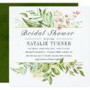 Wild Floral Green Foliage Watercolor Bridal Shower