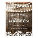 Will you be my Bridesmaid | Rustic Country Chic Invitation