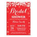 Winter Bridal Shower Snowflake Red
