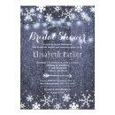 Winter rustic string lights snowing bridal shower