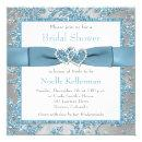 Winter Wonderland, Hearts Bridal Shower Invite