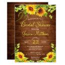 Wood Sunflowers Rustic Bridal Shower