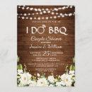 Wood & White Roses Floral I Do BBQ Couple Shower