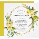 Yellow Daffodil Easter Brunch Square Invitation