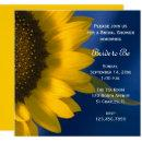 Yellow Sunflower on Blue Bridal Shower